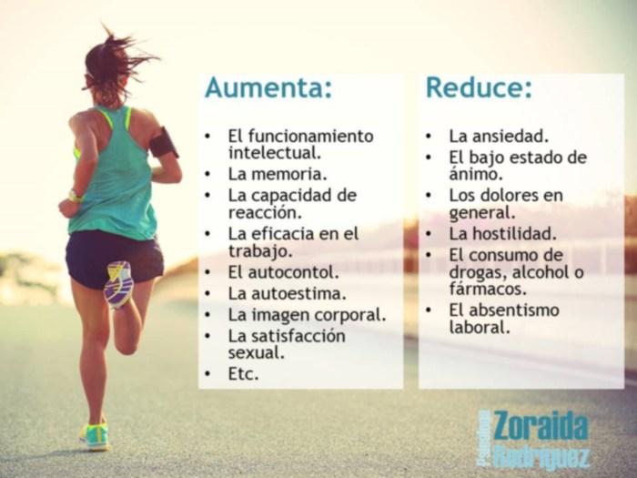 Ejercicio físico: beneficios psicológicos - Zoraida Rodríguez