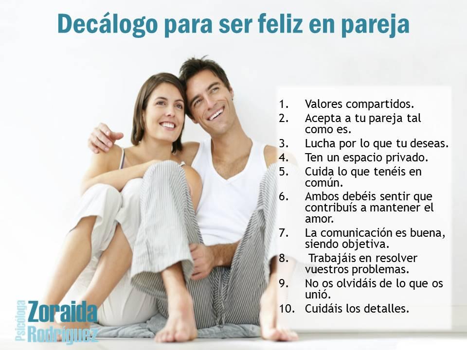 Cómo ser feliz con tu pareja - Psicóloga Zoraida Rodríguez